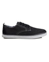 Bulldog Derby Plain Toe Shoe - Black Canvas