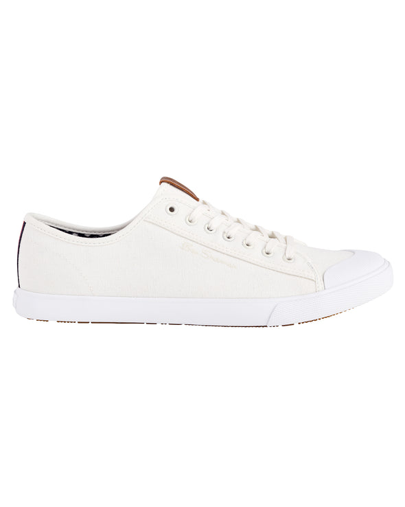 Eddie Cotton Lace-Up Sneaker - Off White