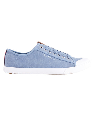 Eddie Cotton Lace-Up Sneaker - Skyway