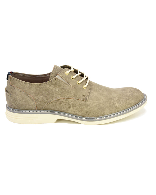 Countryside Plain-Toe Derby - Light Grey