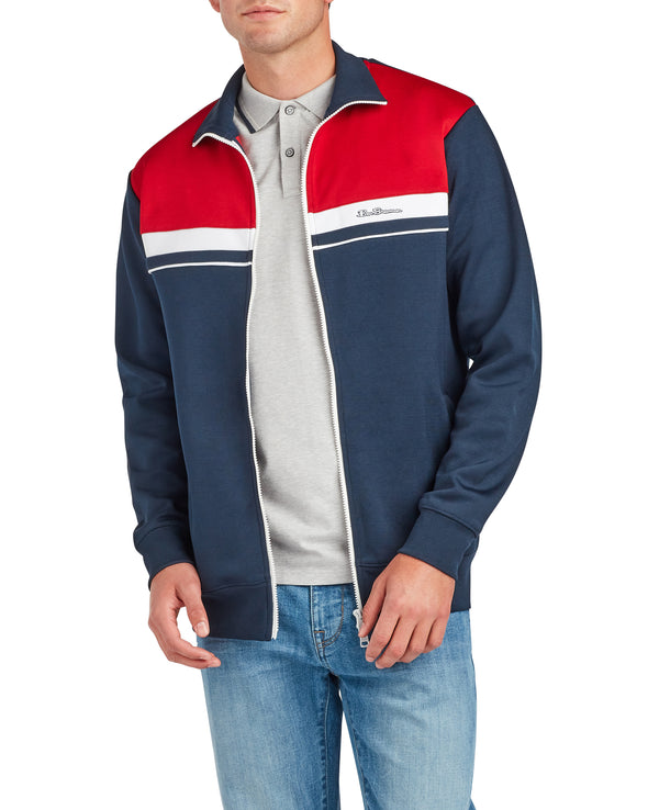Color Block Tricot Jacket - Navy