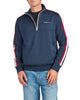 Quarter-Zip Pullover Track Jacket  - Navy