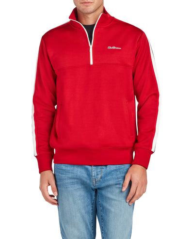 Quarter-Zip Pullover Track Jacket - Red