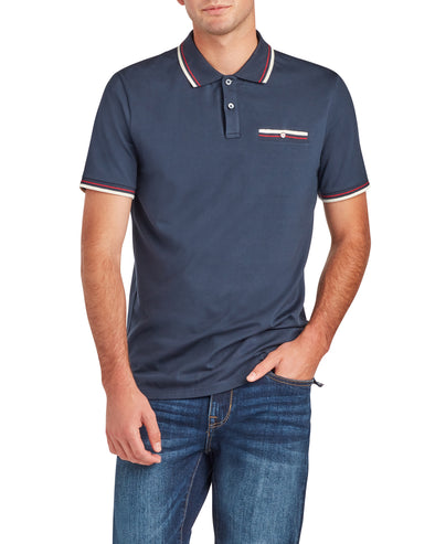 Short-Sleeve Supima Polo Shirt - Navy Blazer