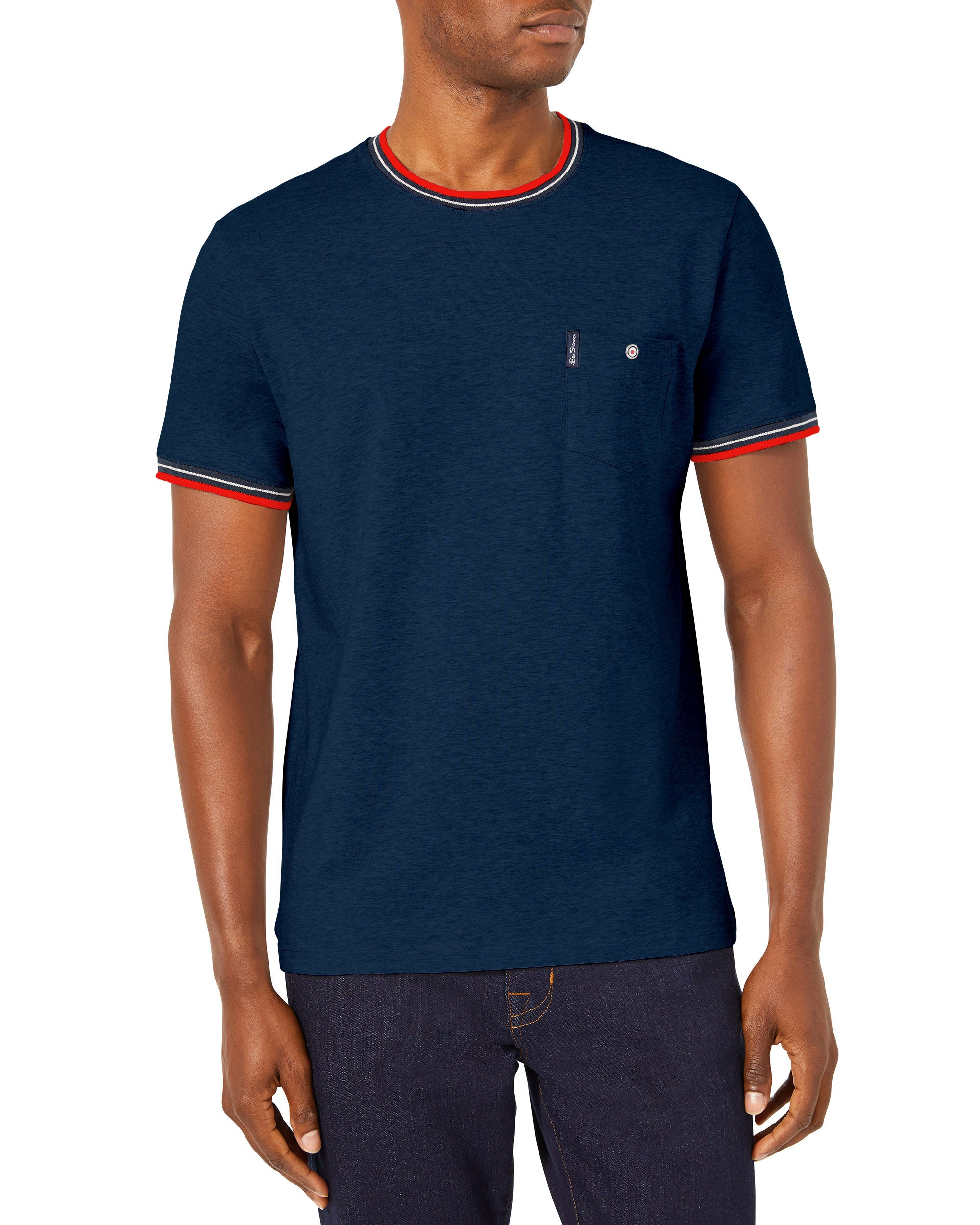 Supima Cotton Pocket Crew T-Shirt - Navy