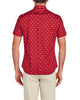 Short-Sleeve Bicycle Print Shirt - Red