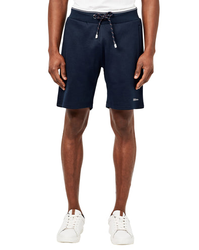 Drawcord Stripe Track Short - Maritime Blue