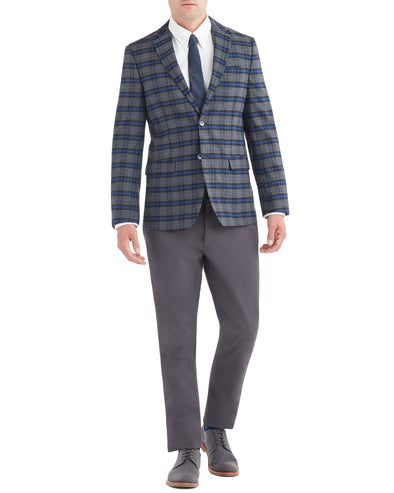 Dacre Window Check Sportcoat Jacket - Grey
