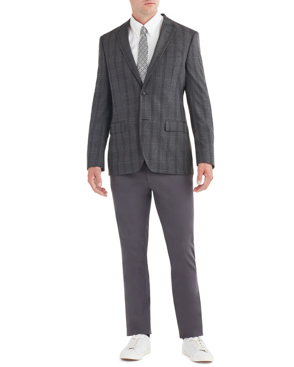 Crown Check Sportcoat Jacket - Charcoal