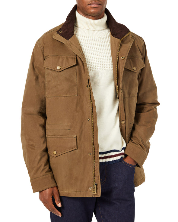 Men's Coated Cotton Field Jacket - Bark