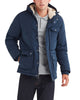 Men's Puffer Jacket with Sherpa-Lined Hood - Navy Blazer