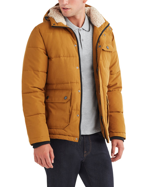 Men's Puffer Jacket with Sherpa-Lined Hood - Timberland