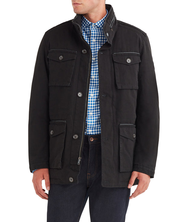 Men's Cotton Field Jacket - Black