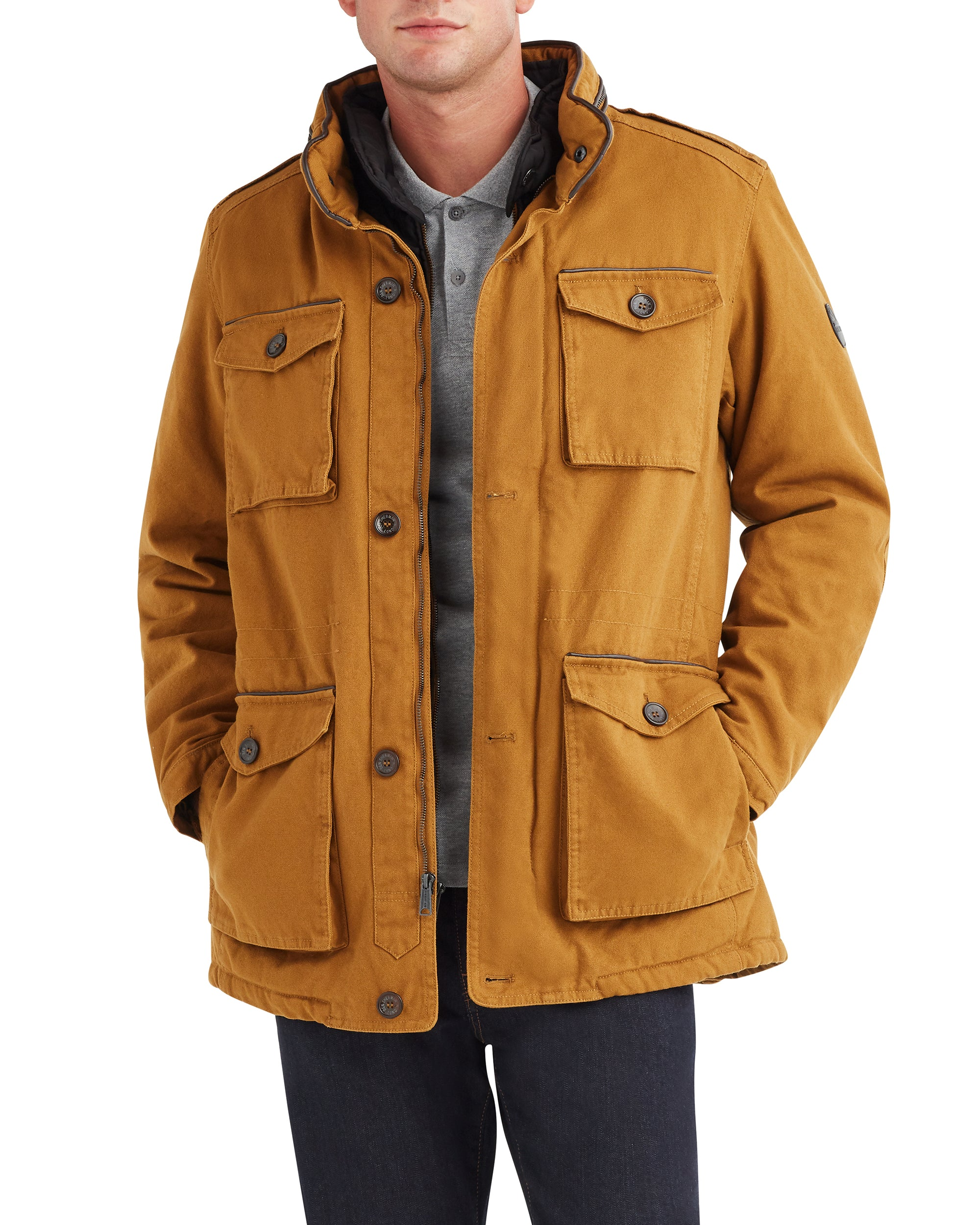 Men's Cotton Field Jacket - Dijon