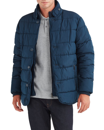 Men's Puffer Coat - Navy Blazer