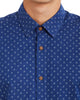 Long-Sleeve Printed Woven Shirt - Blue Depths