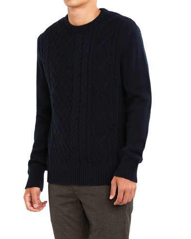 Fisherman Sweater - Navy Blazer