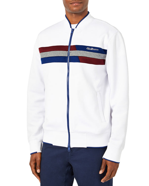 Color Block Track Jacket - Bright White