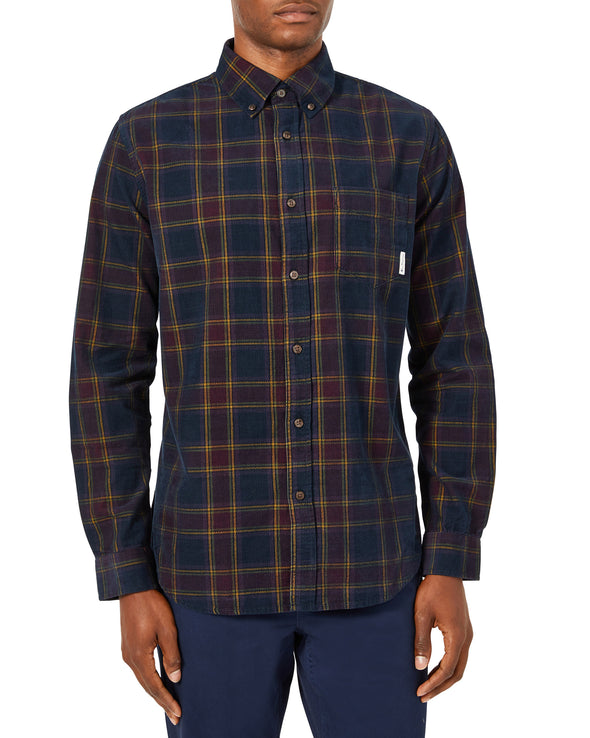 Long-Sleeve Printed Corduroy Shirt - Port Royal