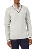 Classic Varsity V-Neck Sweater - Heather Grey