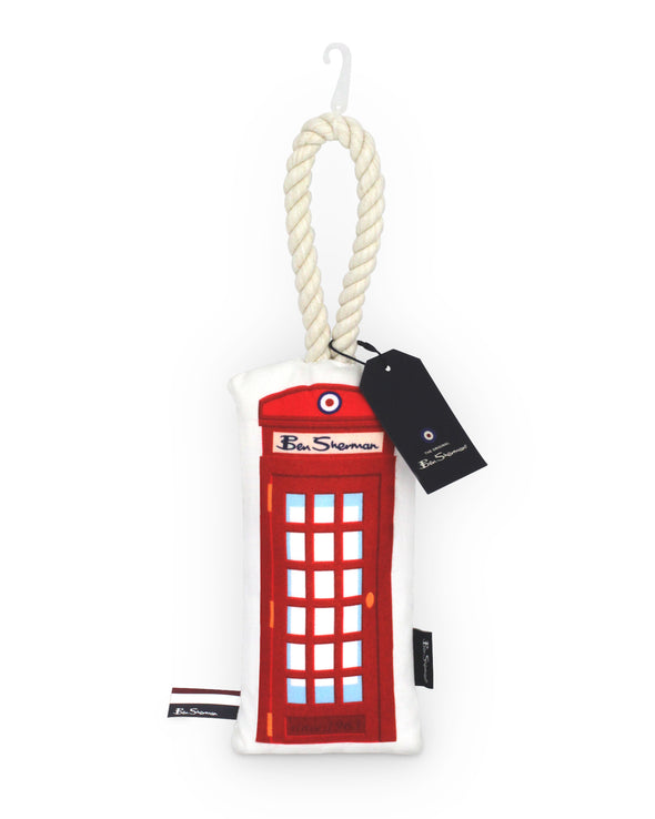 Phonebooth Canvas Tugger Pet Toy - Cream