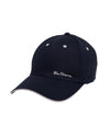 Contrast-Tipped Embroidered Baseball Hat - Navy