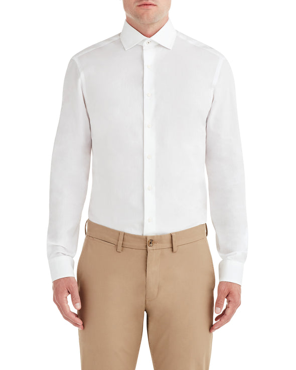 White on White Dot Dobby Dress Shirt