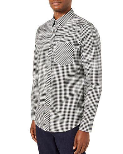Long-Sleeve Core Gingham Shirt - Jet Black