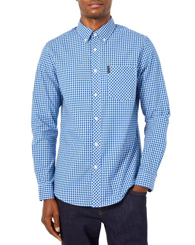 Long-Sleeve Core Gingham Shirt - Sky Blue