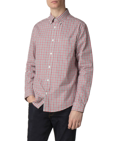 Long-Sleeve House Gingham - Off White
