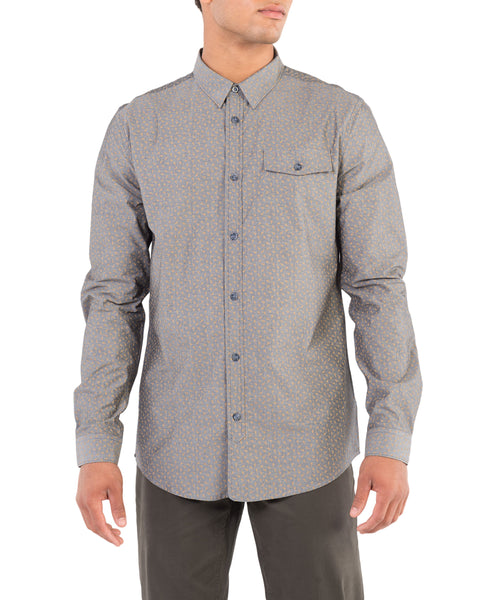 Long-Sleeve Chambray Tulip Shirt - Black