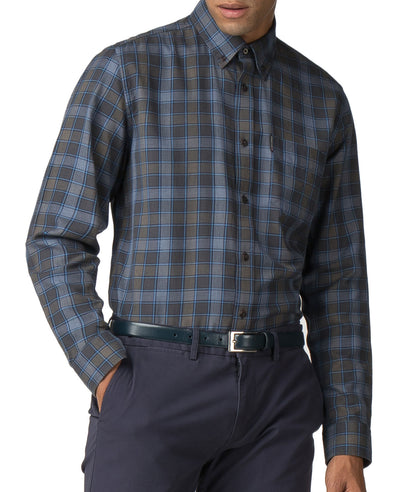 Long-Sleeve Heritage Check Shirt - Dark Green