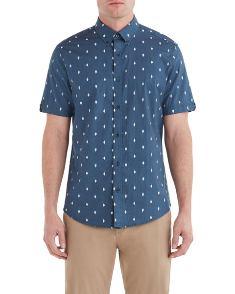 Short-Sleeve Ice Lolly Geo Shirt - Navy
