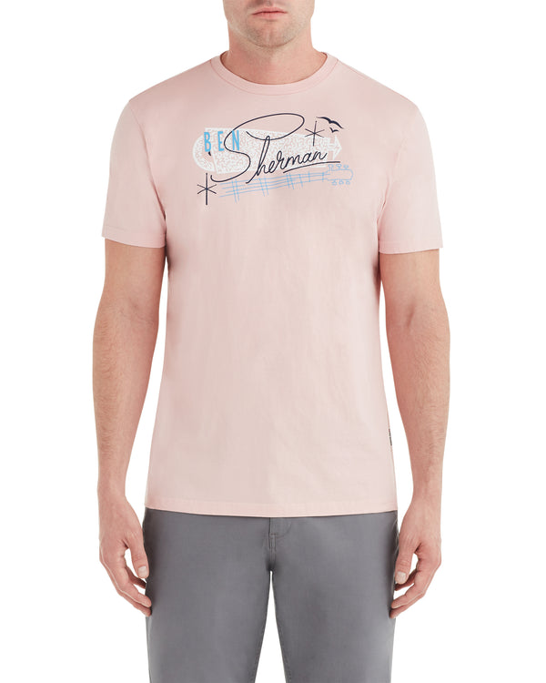 def9e485a9387a Springs Resort Graphic Tee - Light Pink