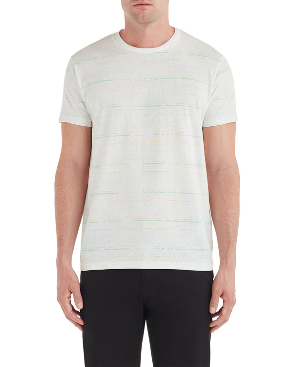 fc2c765751 Palm Striped Styled Tee - White
