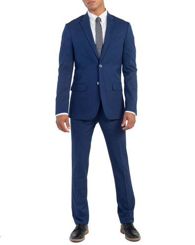 Bell Bi-Stretch Two-Button Side Vent Suit - Blue
