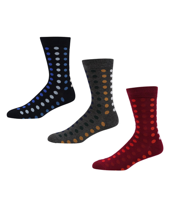Reset Men's 3-Pack Socks - Navy/Wine/Charcoal Marl