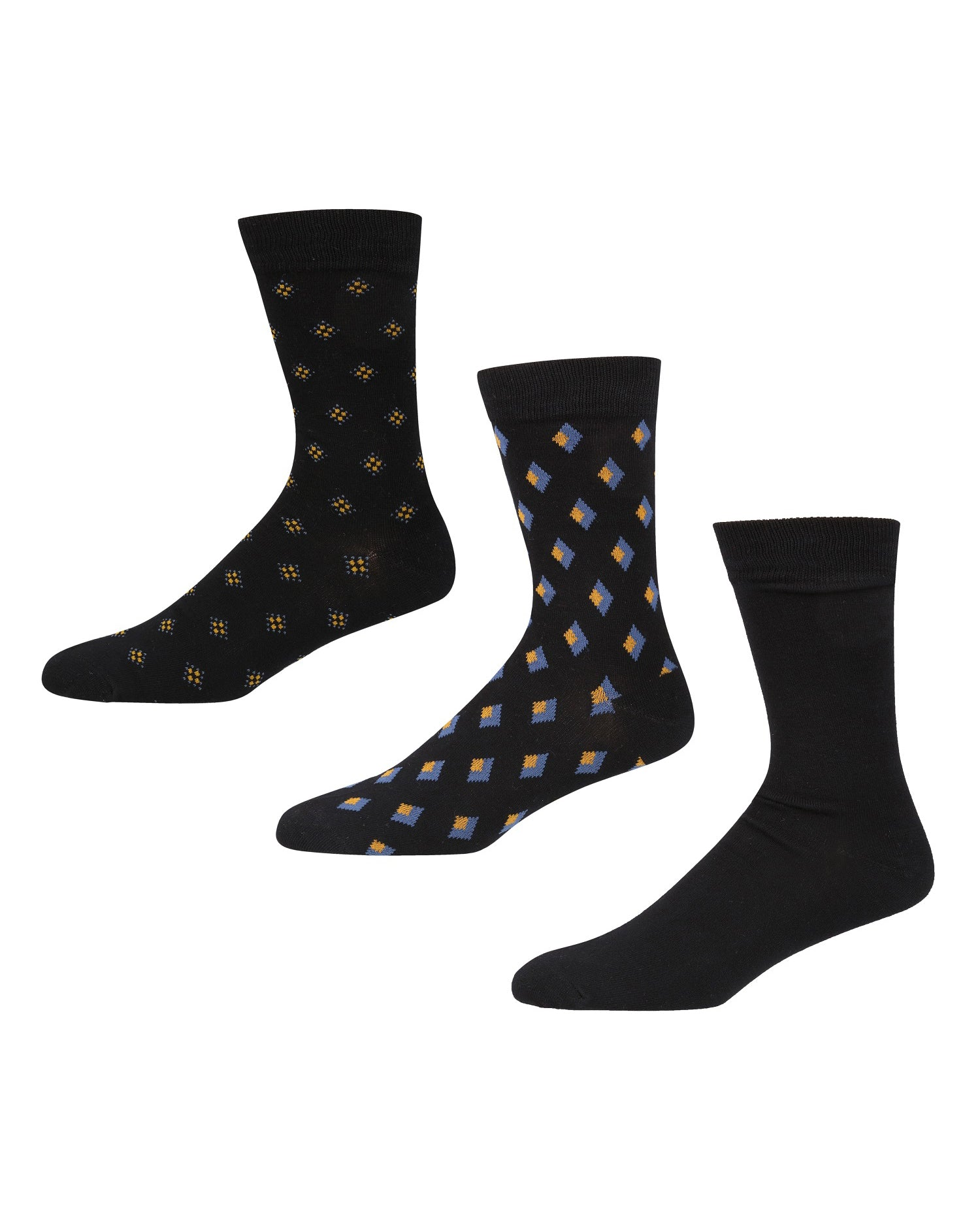 Valyra Logic Men's 3-Pack Socks - Black/Chai Tea