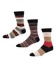 Meadow Lake Men's 3-Pack Socks - Beige/Red/Navy