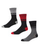 Blood Royal Men's 3-Pack Socks - Black/Grey Marl/Wine