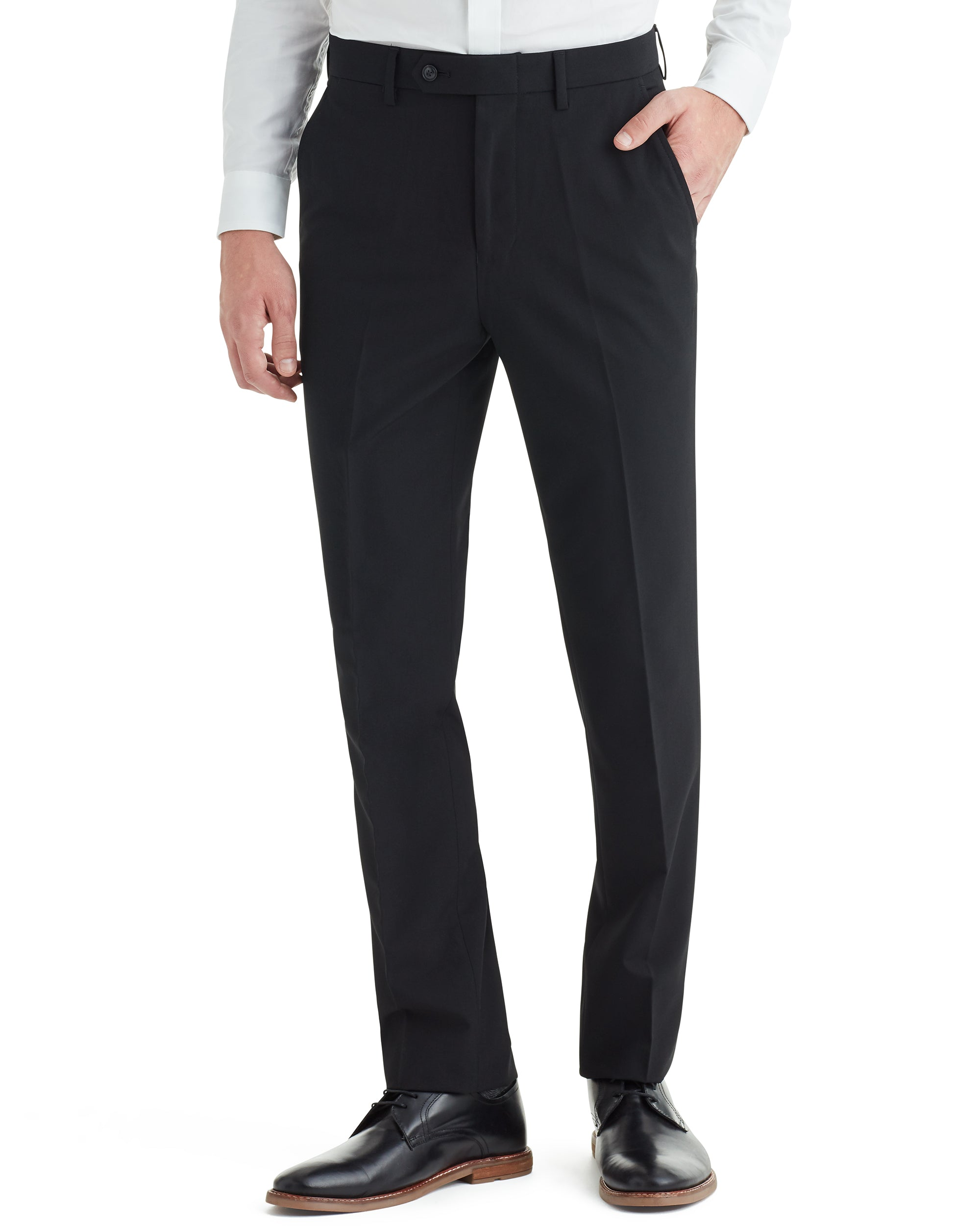 Cave Bi-Stretch Flat Front Suit Pant - Black