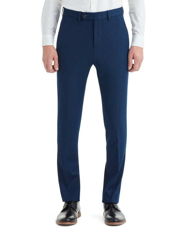 Cave Bi-Stretch Flat Front Suit Pant - Blue