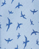 Kolby Birds Printed Silk Neck Tie - Blue