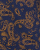 Lexington Paisley Print Silk Neck Tie - Navy/Yellow