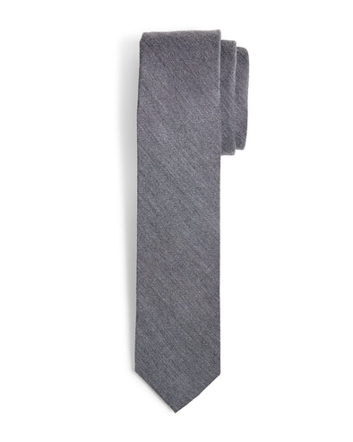 Lynwood Solid Slim Tie - Charcoal