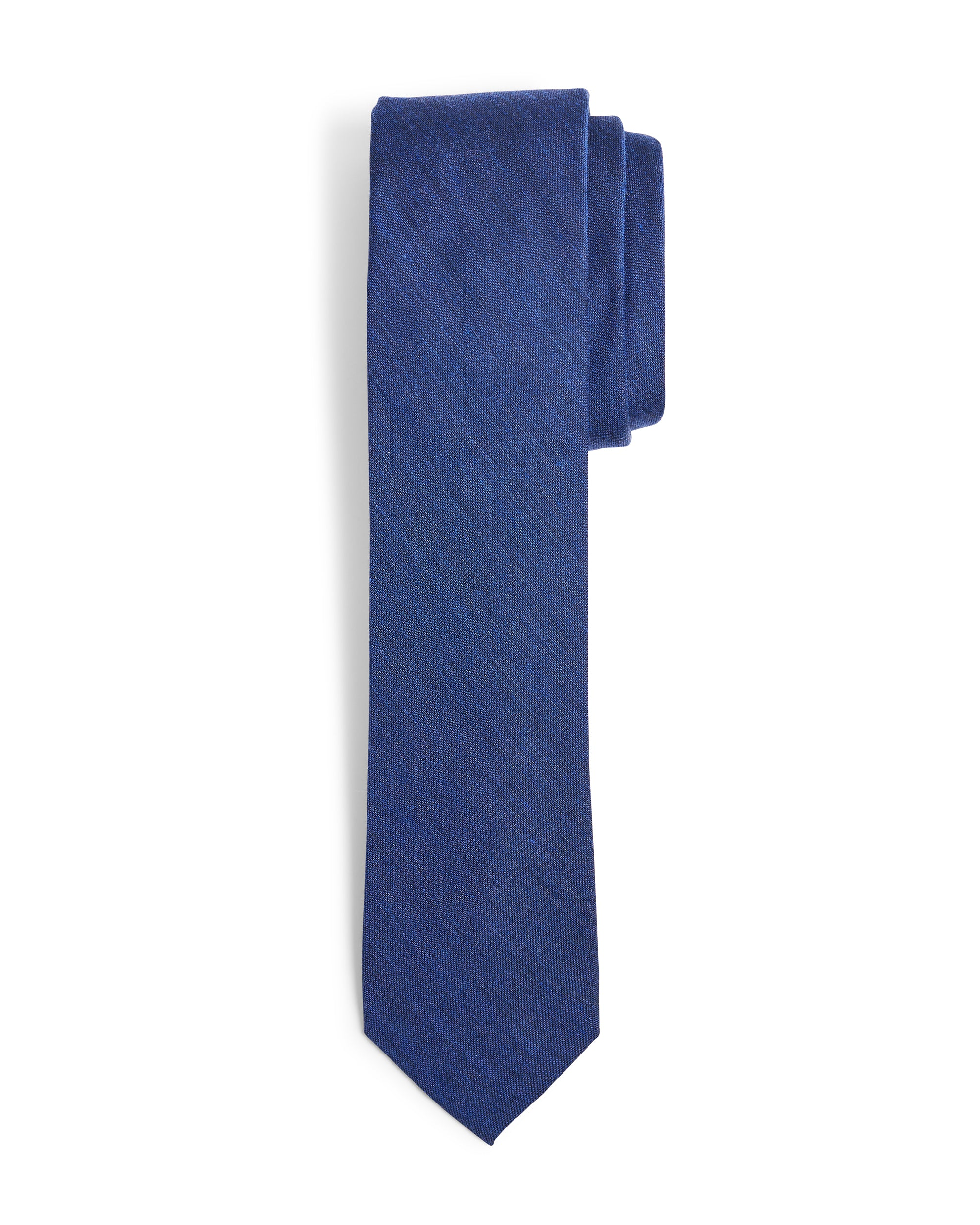 Lynwood Solid Slim Tie - Navy
