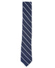 Kalvin Stripe Silk Neck Tie - Navy