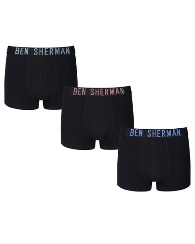 Berry Men's 3-Pack Fitted Boxer-Briefs - Black