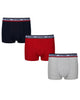 Cosmo Men's 3-Pack Fitted No-Fly Boxer-Briefs - Navy/Grey Marl/Red