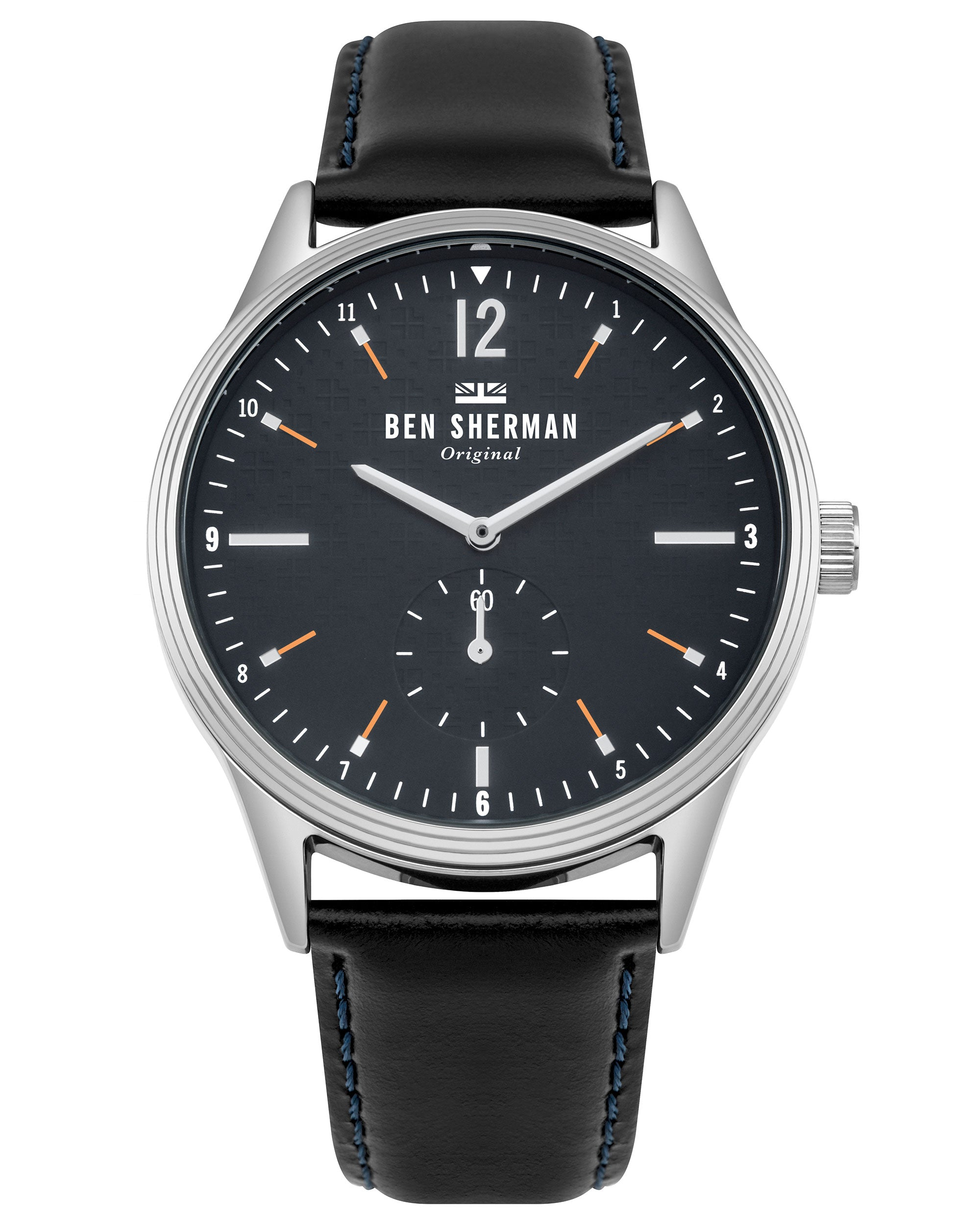 Men's Spitalfields Vinyl Geo Watch - Black/Navy/Silver